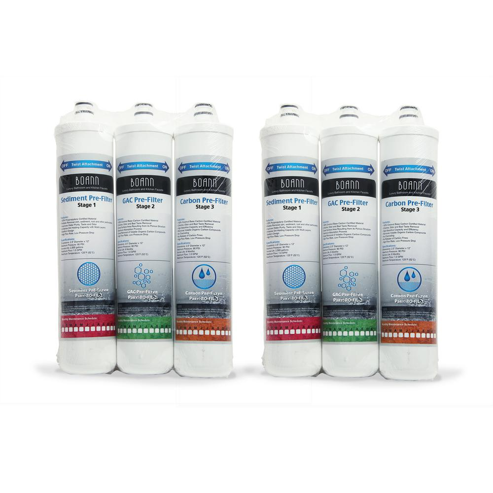 boann 1 year filter pack reverse osmosis water filtration system ro 1ypk the home depot. Black Bedroom Furniture Sets. Home Design Ideas
