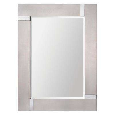 Capiz 40 in. x 30 in. Framed Wall Mirror