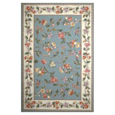 Morning Vines Slate/Blue 2 ft. 6 in. x 4 ft. 2 in. Area Rug