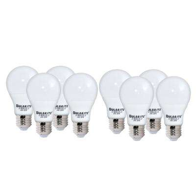 60-Watt Equivalent Soft White Light Frost A19 Dimmable UL Enclosed JA8 LED Light Bulb (8-Pack)