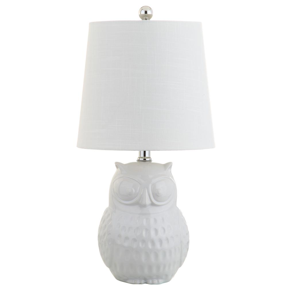Jonathan y hoot 205 in white owl ceramic mini table lamp jyl1026a white owl ceramic mini table lamp aloadofball Image collections