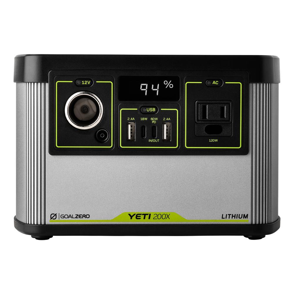 Yeti 200-Watt Electric Switch Start Lithium Battery Powered Portable Generator