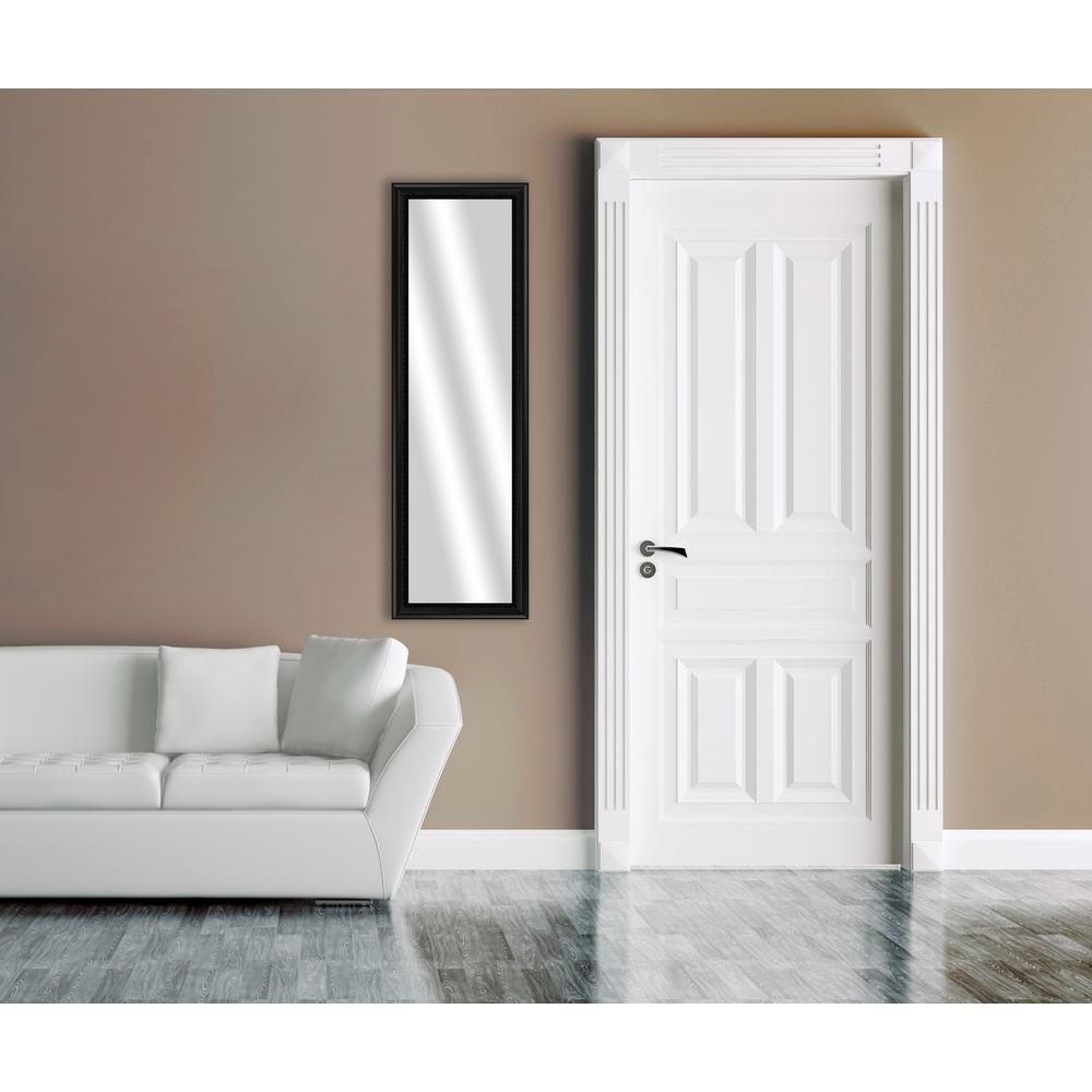 51.875 in. x 15.875 in. Black Framed Mirror