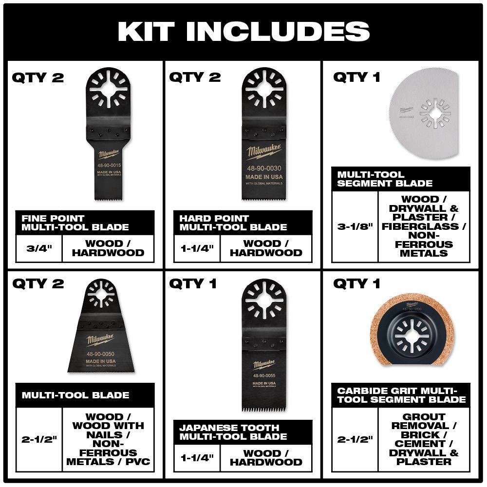 "Milwaukee Multi Tool Compatible 3 x 1-3//8/"" Japan Tooth Oscillating Tool Blades"