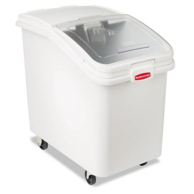 30.9 Gal. White ProSave Mobile Ingredient Bin with 32 oz. Scoop