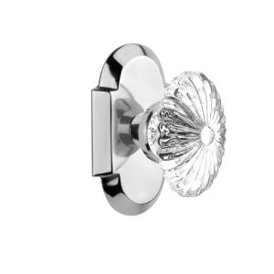 Nostalgic Warehouse Cottage Plate 2 3 8 In Backset Bright Chrome Privacy Bed Bath Crystal Glass Door Knob 712898 The Home Depot