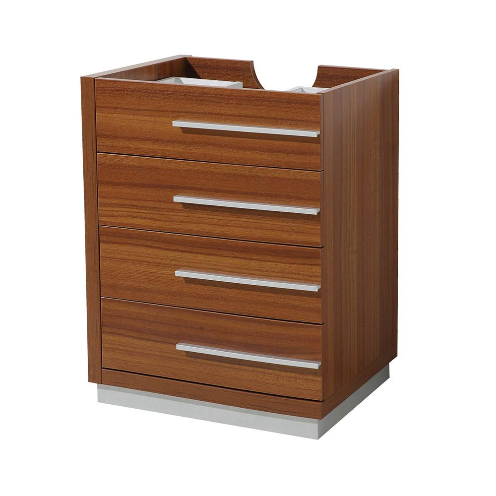 Fresca Livello In Bathroom Vanity Cabinet Only In TeakFCBTK - Teak bathroom vanity cabinets