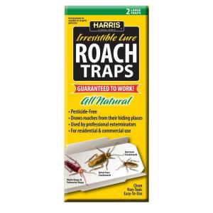 Harris Roach Traps with 25 Irresistible Lures (2-Pack) by Harris