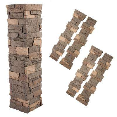 Stacked Stone 1-1/2 in. x 11-1/2 in. Stratford Faux Pillar Panel (4-Pack)