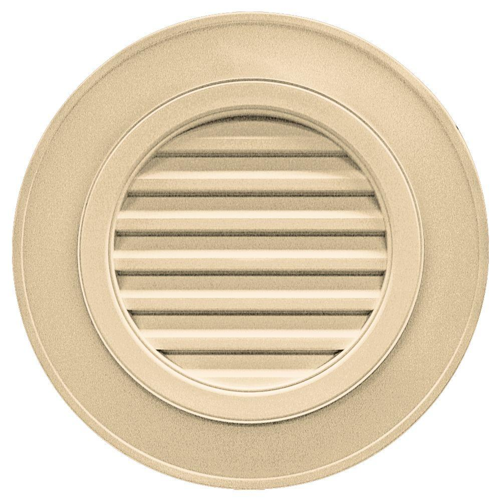 Builders Edge 28 in. Round Gable Vent in Dark Almond (without Keystones)