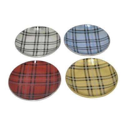 0.25 in. Glass Plates in Multi-Colored (Set of 4)
