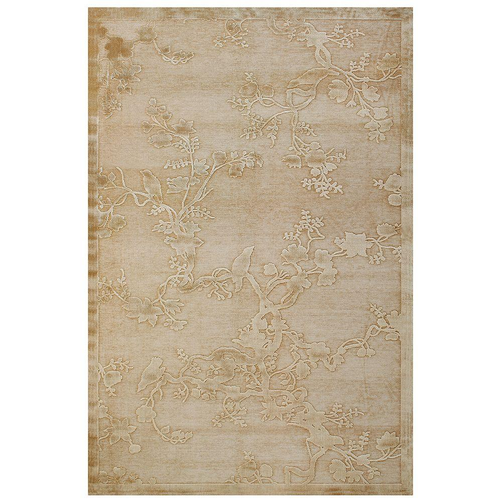 Feizy Saphir Ivory 2 ft. 2 in. x 4 ft. Indoor Accent Rug