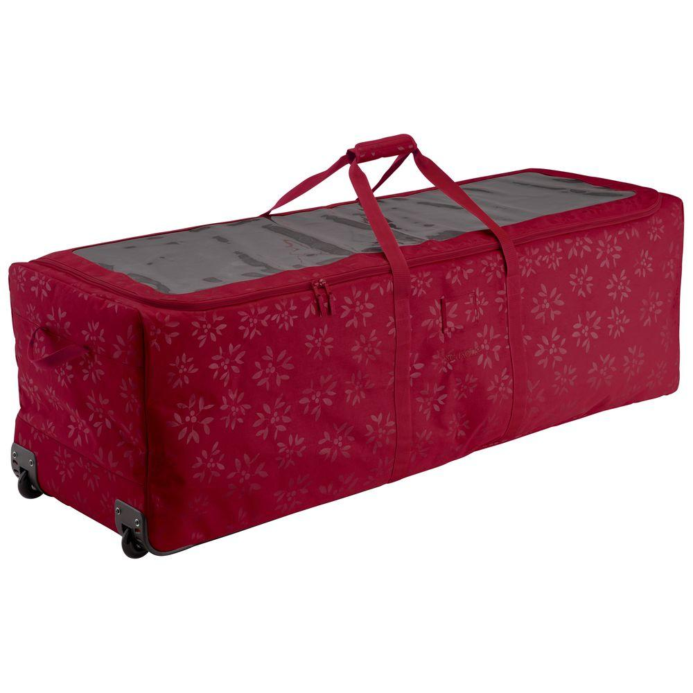 b2d0493ca4 Cranberry Artificial Tree Storage Bag for Trees Up to 9 ft. Tall Seasons  Holiday Tree Rolling Storage Duffel