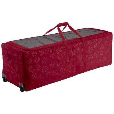 Cranberry Artificial Tree Storage Bag for Trees Up to 9 ft. Tall Seasons Holiday Tree Rolling Storage Duffel