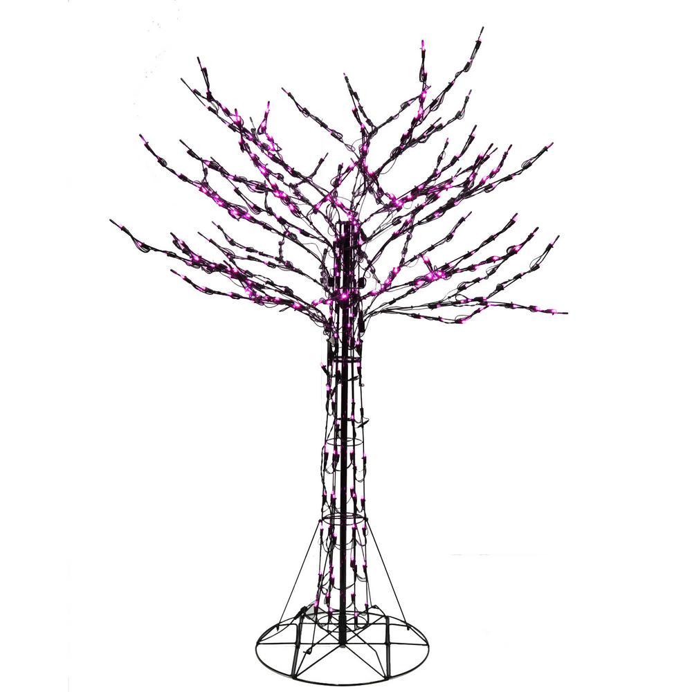 6 ft. Purple LED Twig Tree