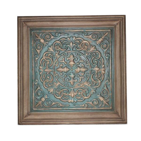 16.5 in. x 16.5 in. Blue Stamped Metal Wall Plaque 13C1649