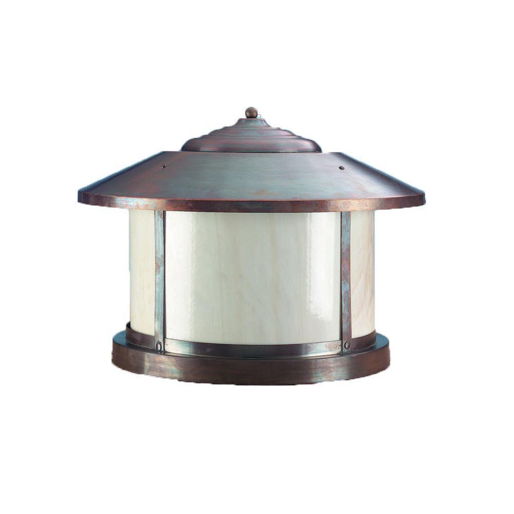 1-Light 14 in. Matte Bronze Outdoor Lantern