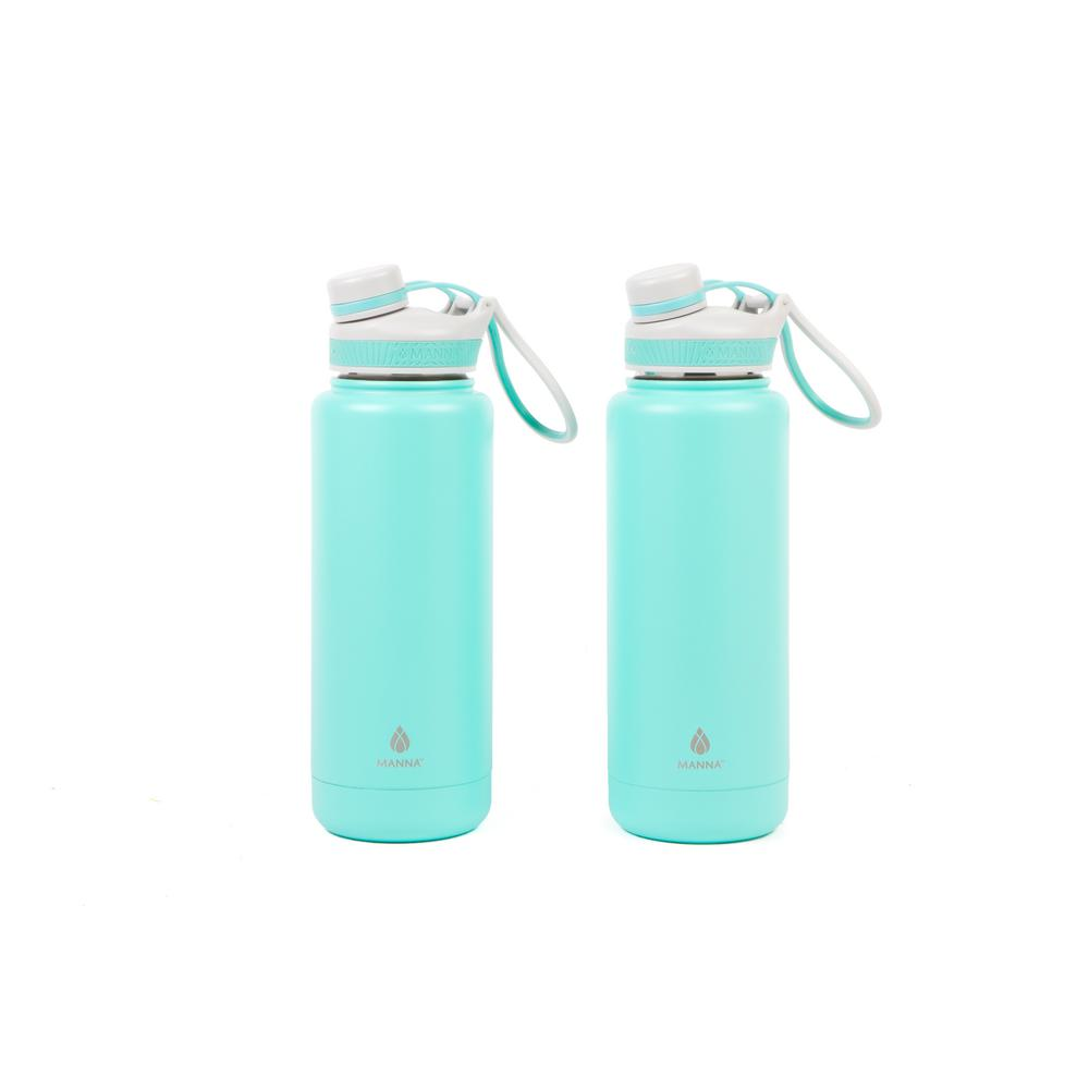 Ranger Pro 40 oz. Mint Stainless Steel Vacuum Bottle (2-Pack)