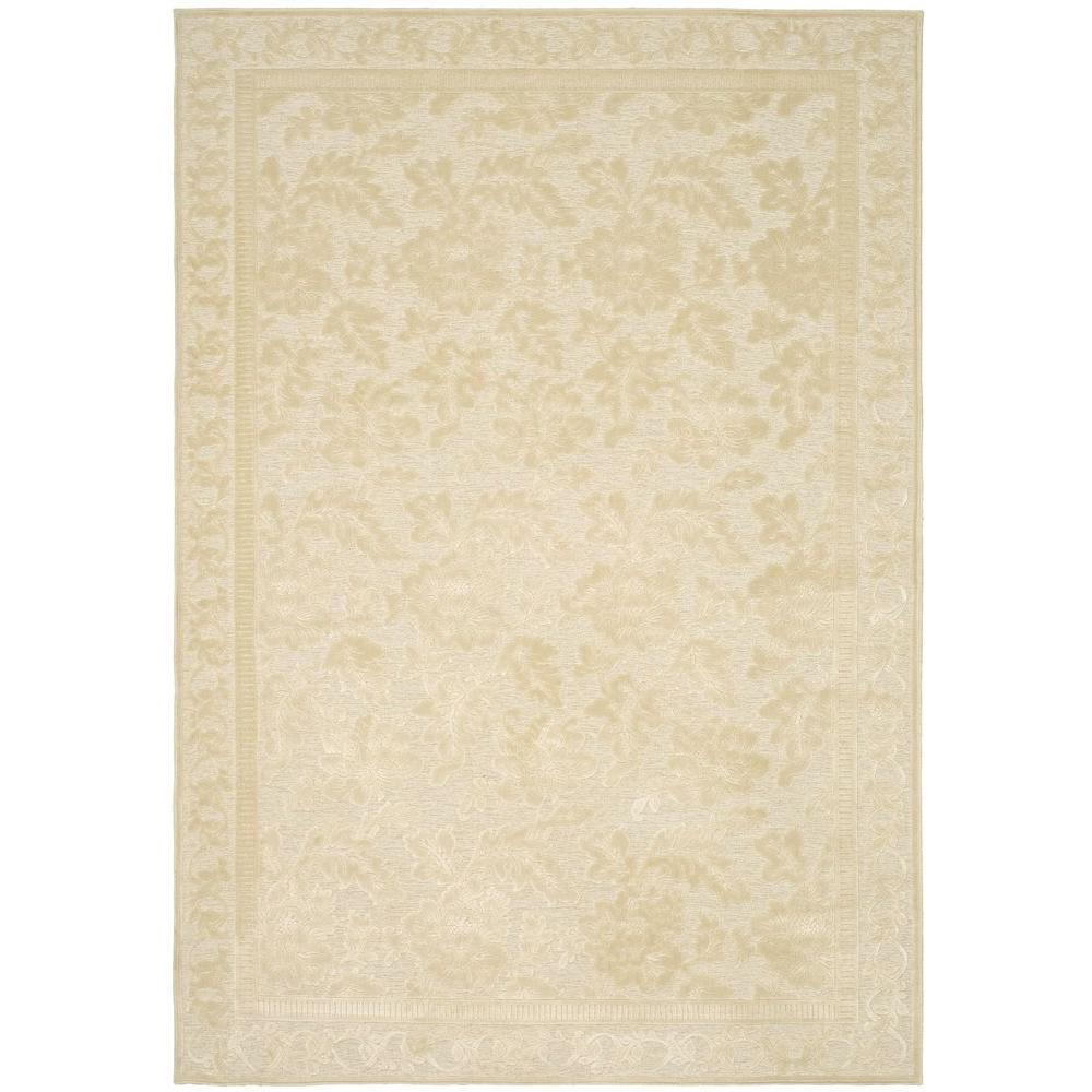 Martha stewart living peony damask cream 5 ft 3 in x 7 for Martha stewart rugs home decorators