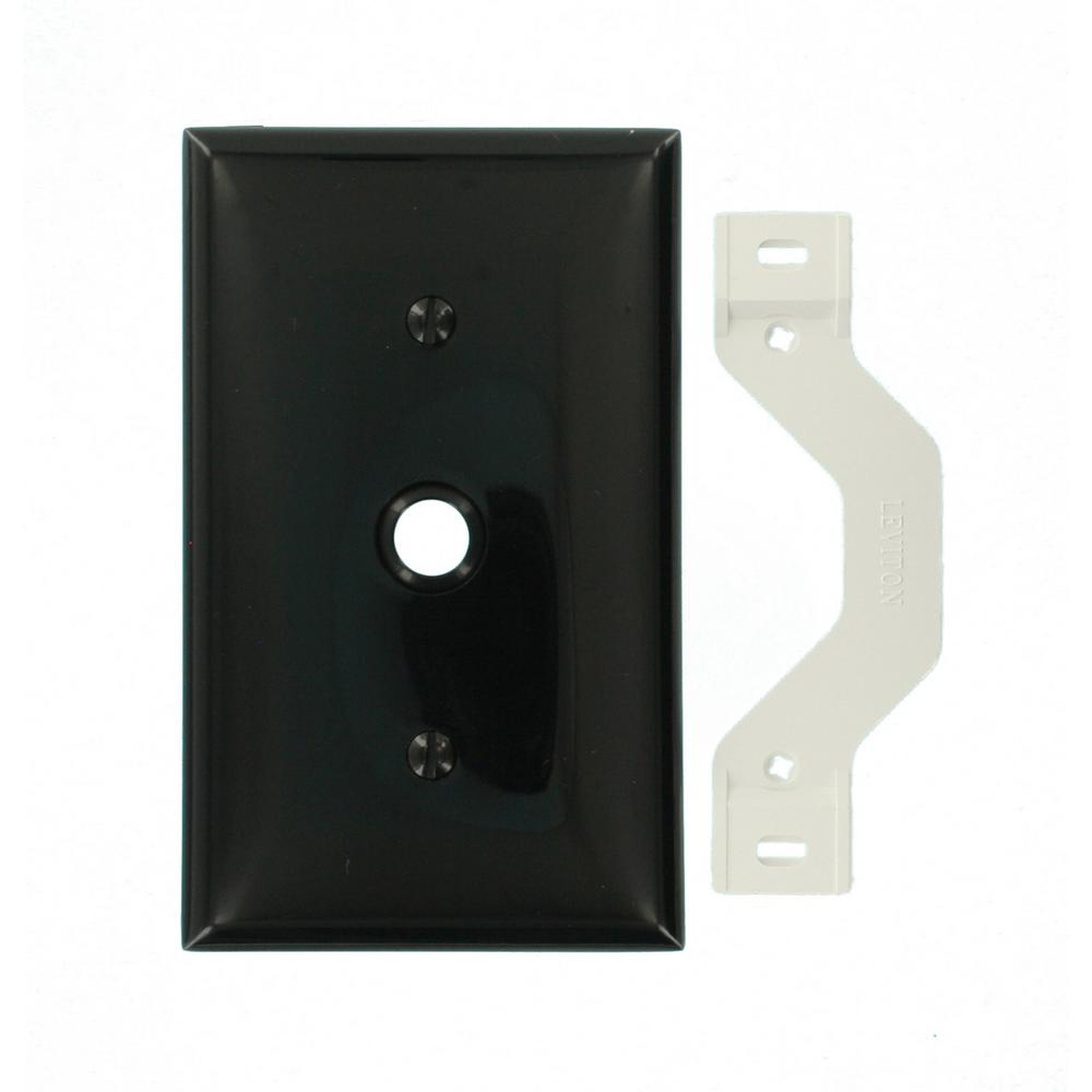 1gang standard size in dia phonecable opening nylon strap mount