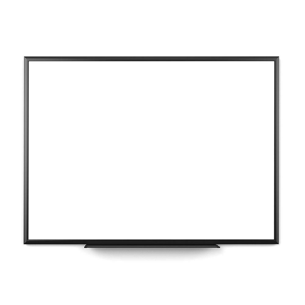 35 in. x 47 in. Black Aluminum Frame Magnetic Dry Erase Board