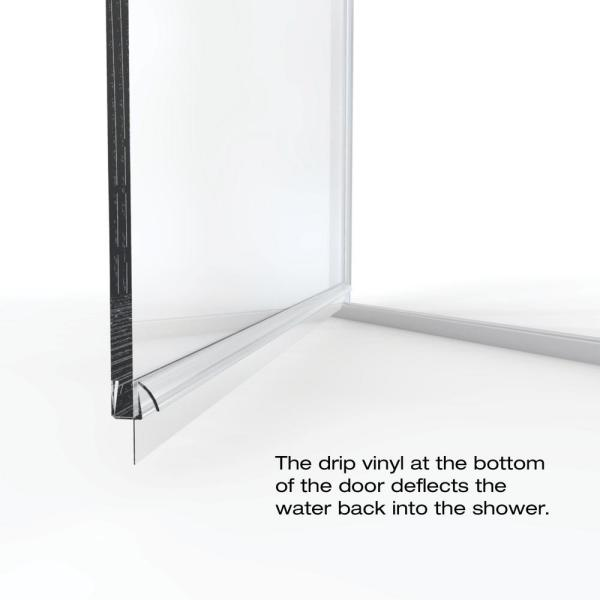 Basco Infinity 28 In X 65 9 16 In Semi Frameless Hinged Shower Door In Brushed Nickel With Clear Glass Infn00a2865clbn The Home Depot
