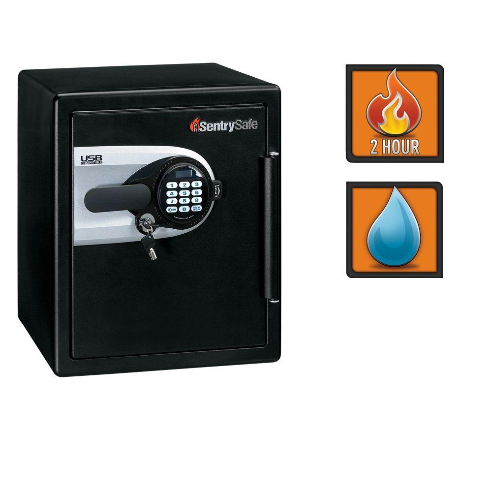 SentrySafe 1.2 cu. ft. Fire/Water Resistant Safe with Electronic Lock and External USB Port-DISCONTINUED