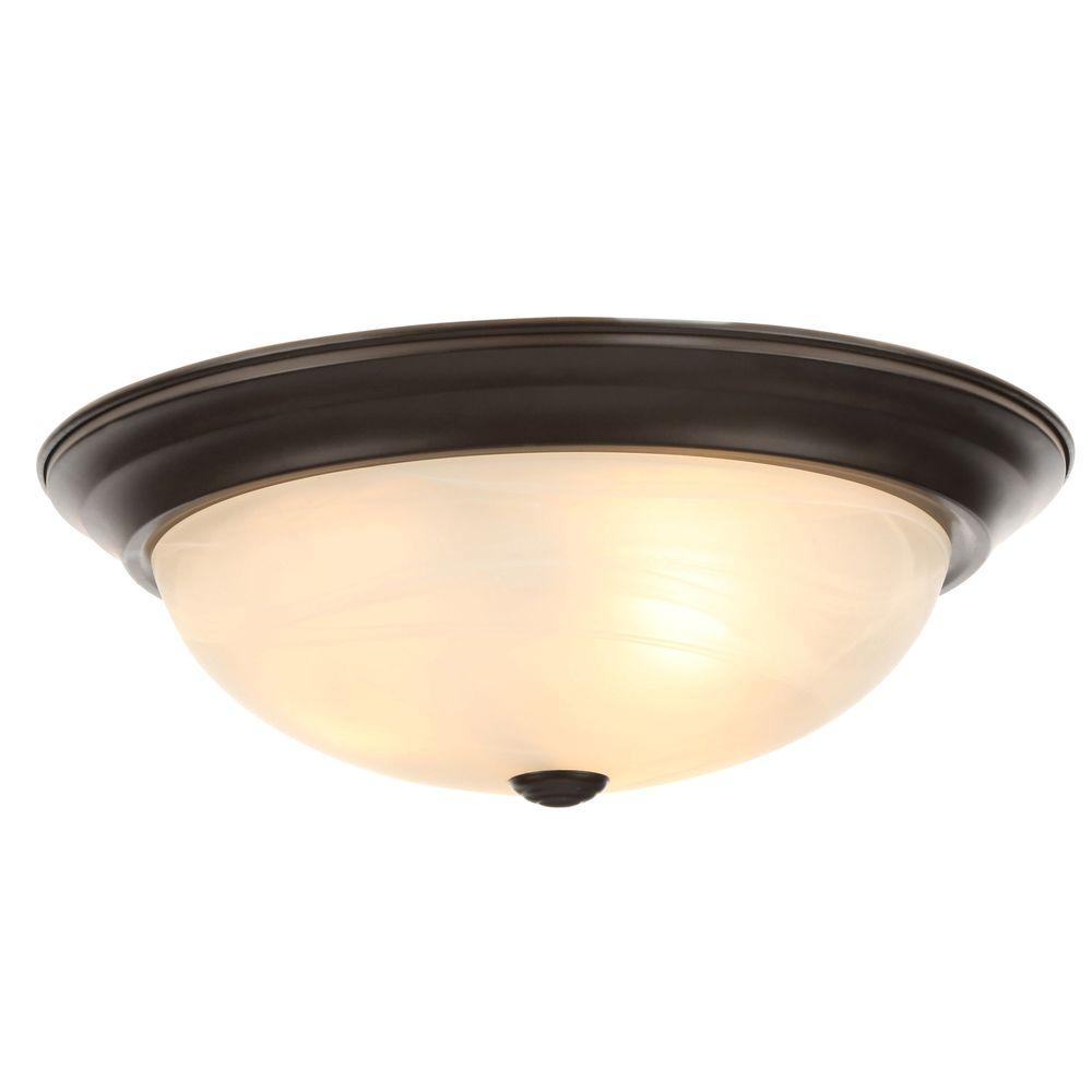 Oiled Bronze Ceiling Lights : Designers fountain reedley collection light flush