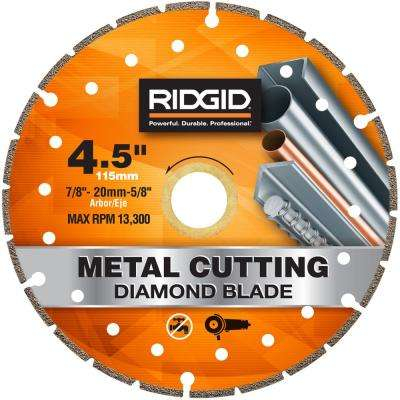 4.5 in. Metal Cutting Diamond Blade