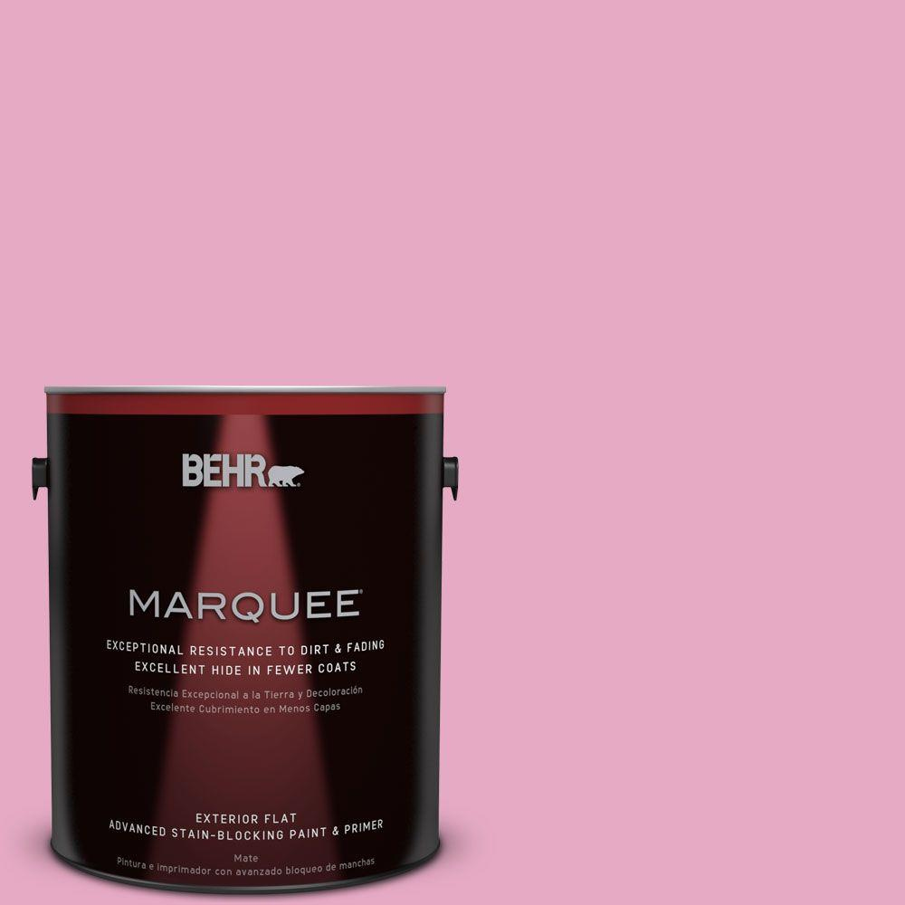 BEHR MARQUEE 1-gal. #P130-3 Little Princess Flat Exterior Paint, Reds/Pinks