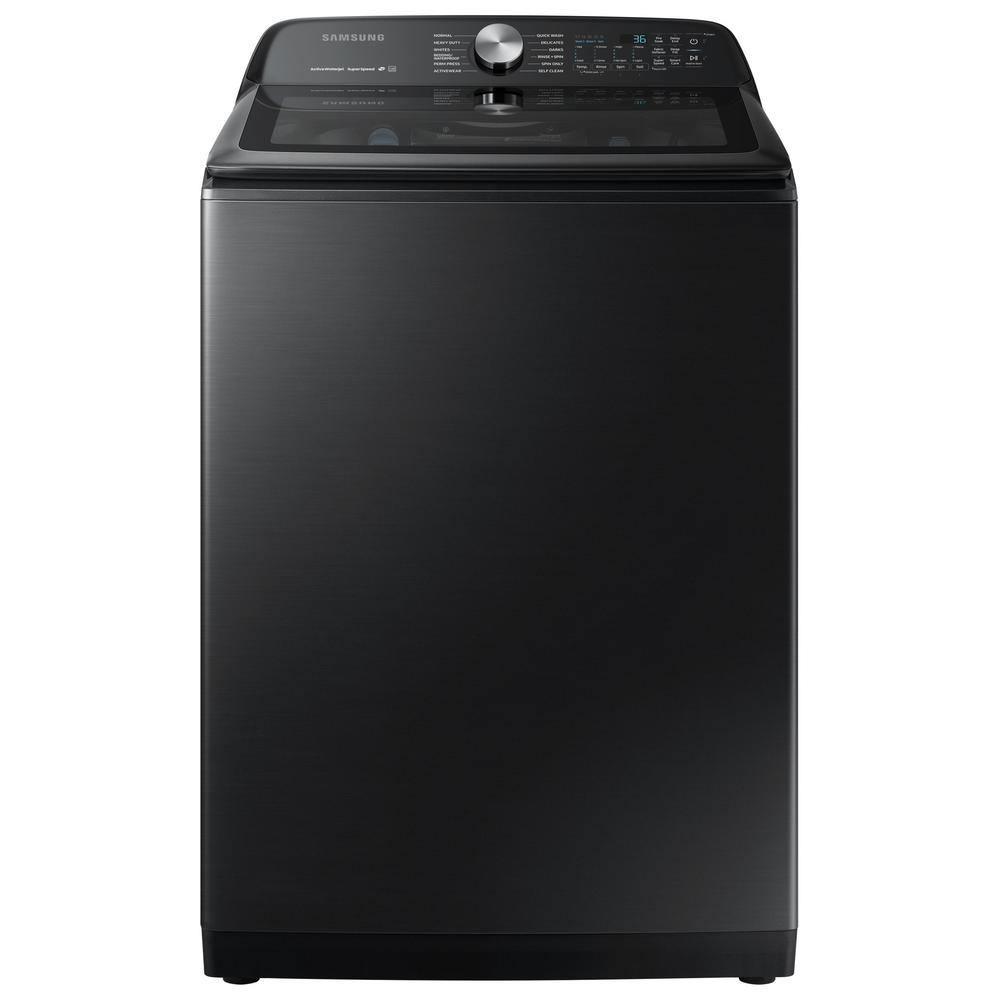 Samsung 5.0 cu. ft. Hi-Efficiency Fingerprint Resistant Black Stainless Top Load Washing Machine with Super Speed, ENERGY STAR