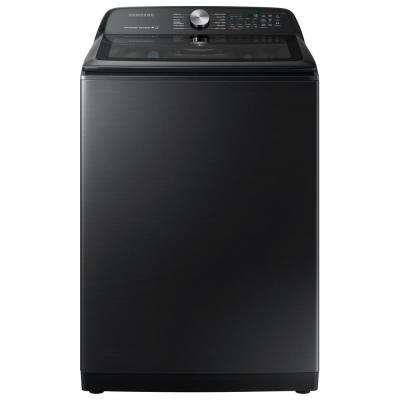 5.0 cu. ft. Hi-Efficiency Fingerprint Resistant Black Stainless Top Load Washing Machine with Super Speed, ENERGY STAR