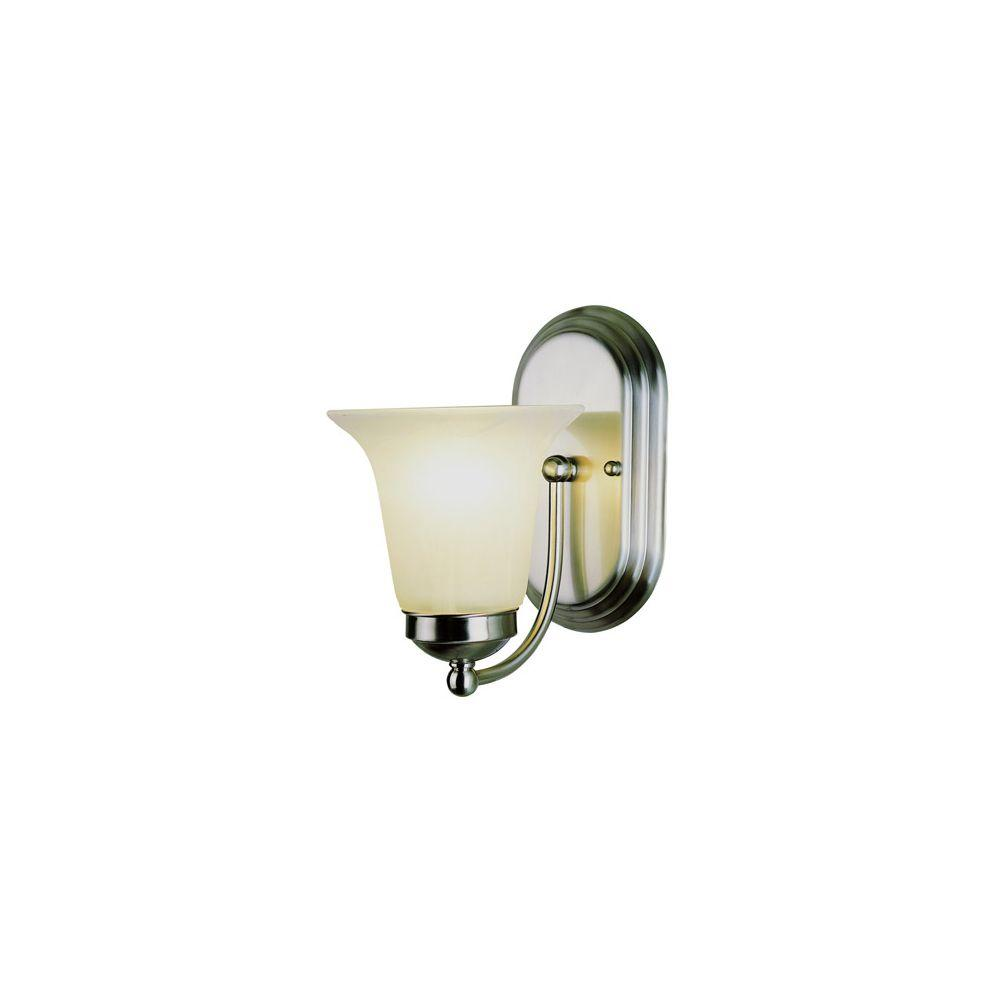 Bel Air Lighting Cabernet Collection 1-Light Polished Chrome Sconce with White Marbleized Shade