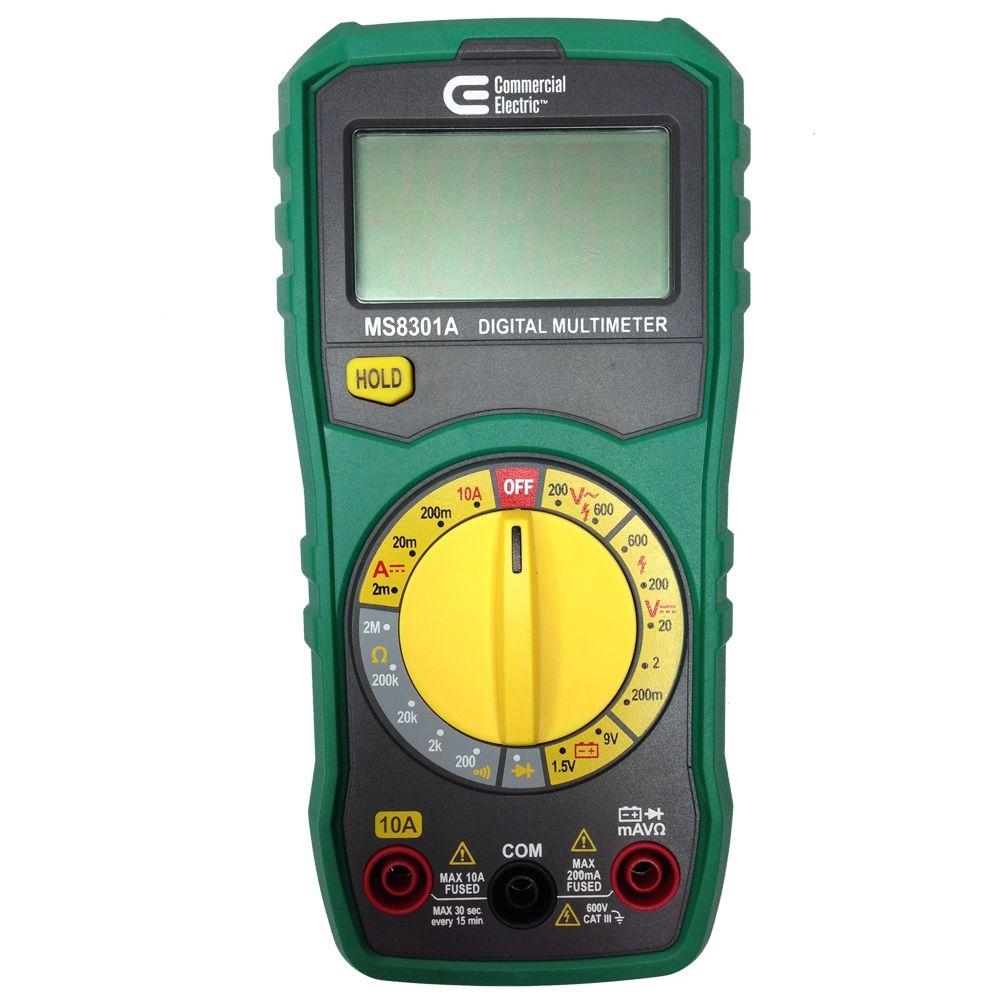 Multimeter For Home : Commercial electric manual ranging digital multi meter