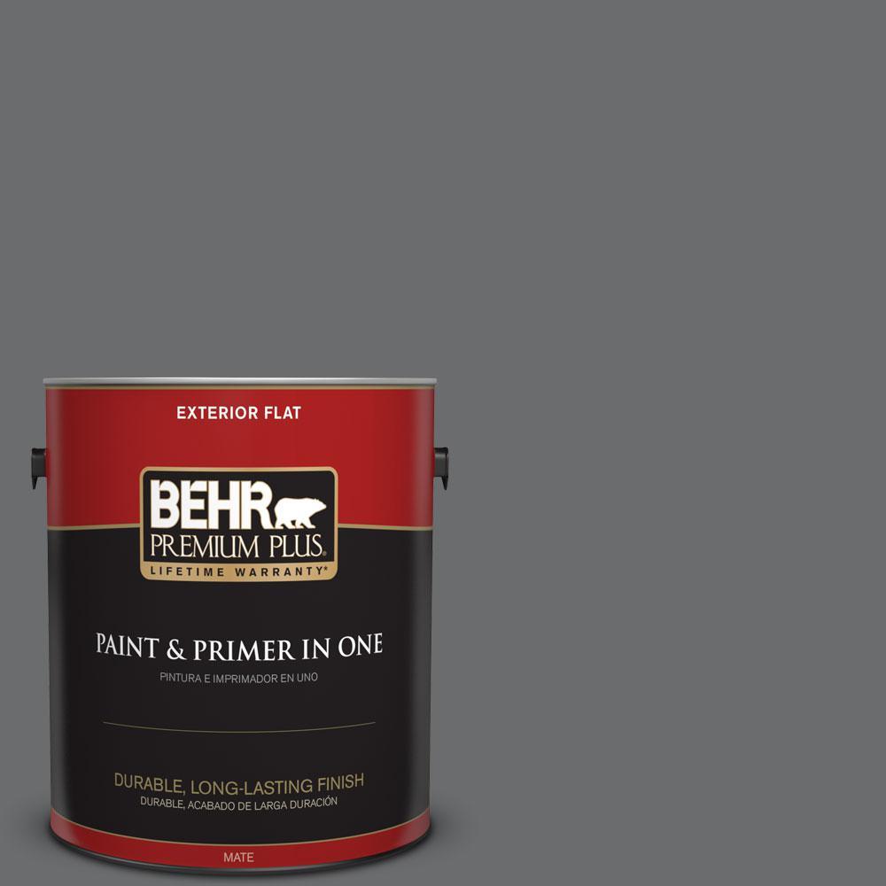 BEHR Premium Plus 1-gal. #770F-5 Dark Ash Flat Exterior Paint