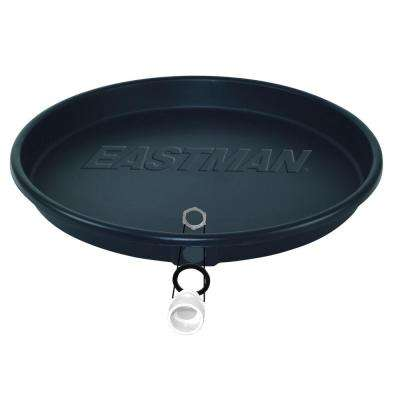 26 in. I.D. x 28 in. O.D. Black Electric Water Heater Pan