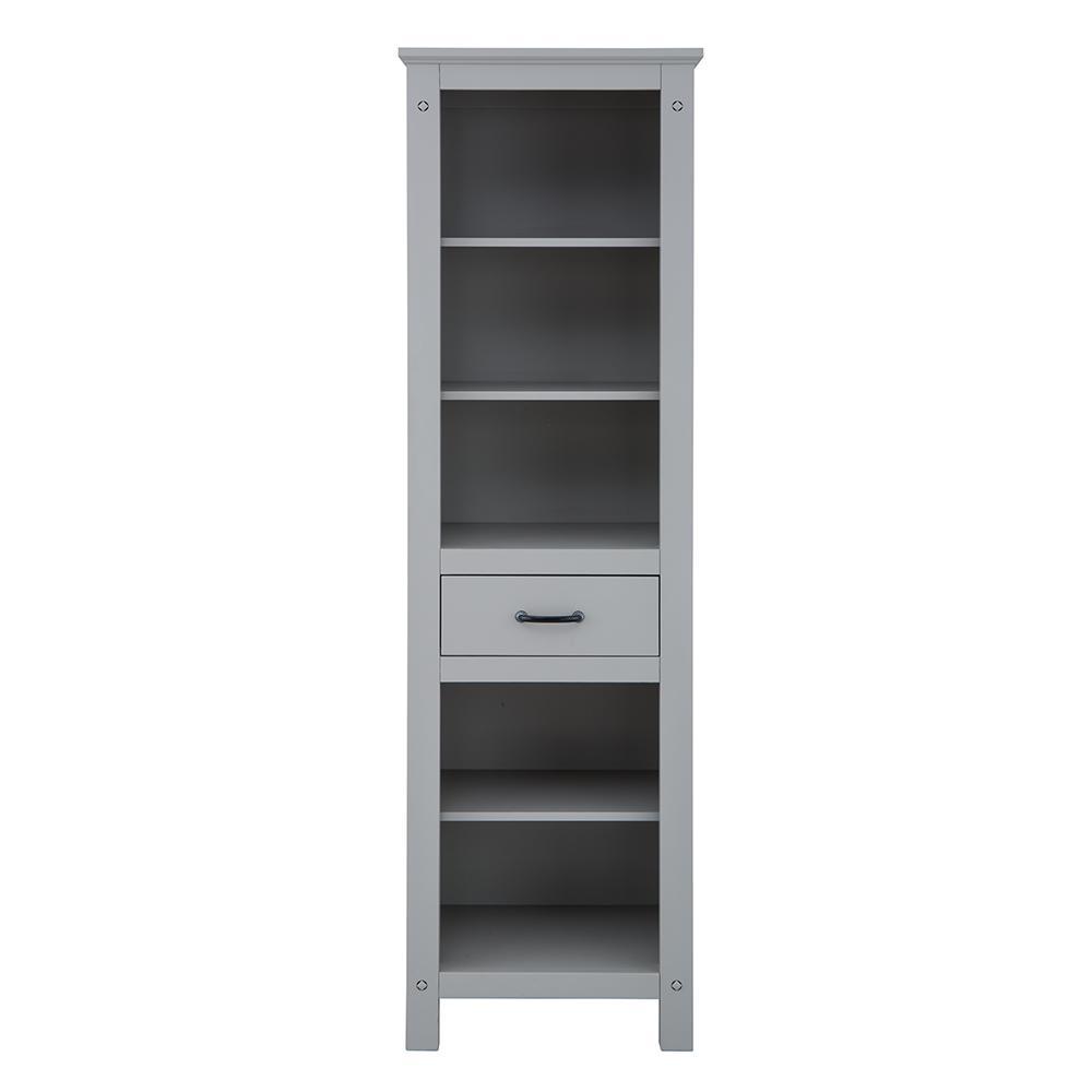 Avondale 20 in. W x 68 in. H Linen Cabinet in Grey