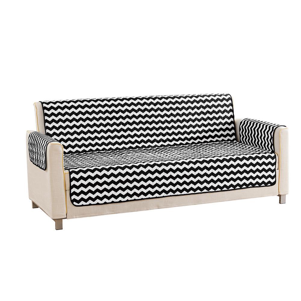 Black - Sofa - Slipcovers - Living Room Furniture - The Home Depot