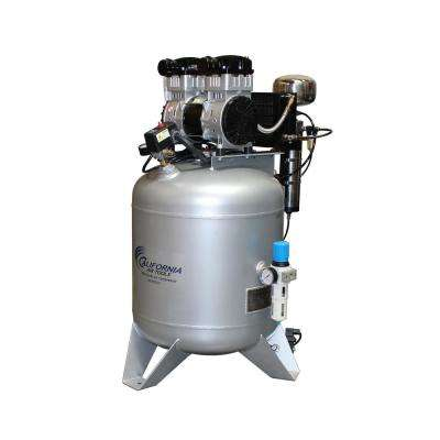 30 Gal. Stationary Ultra Quiet and Oil-Free 2.0 HP Electric Air Compressor with Air Dryer and Automatic Drain Valve