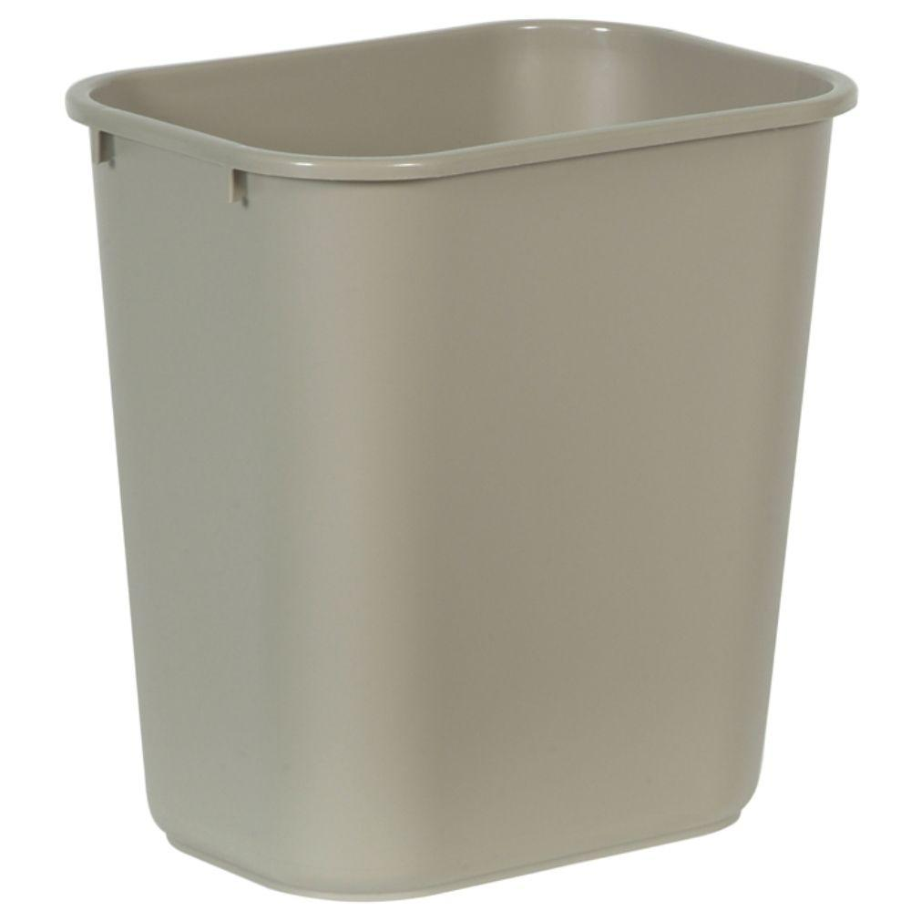 Rubbermaid commercial products 7 gal beige rectangular trash can
