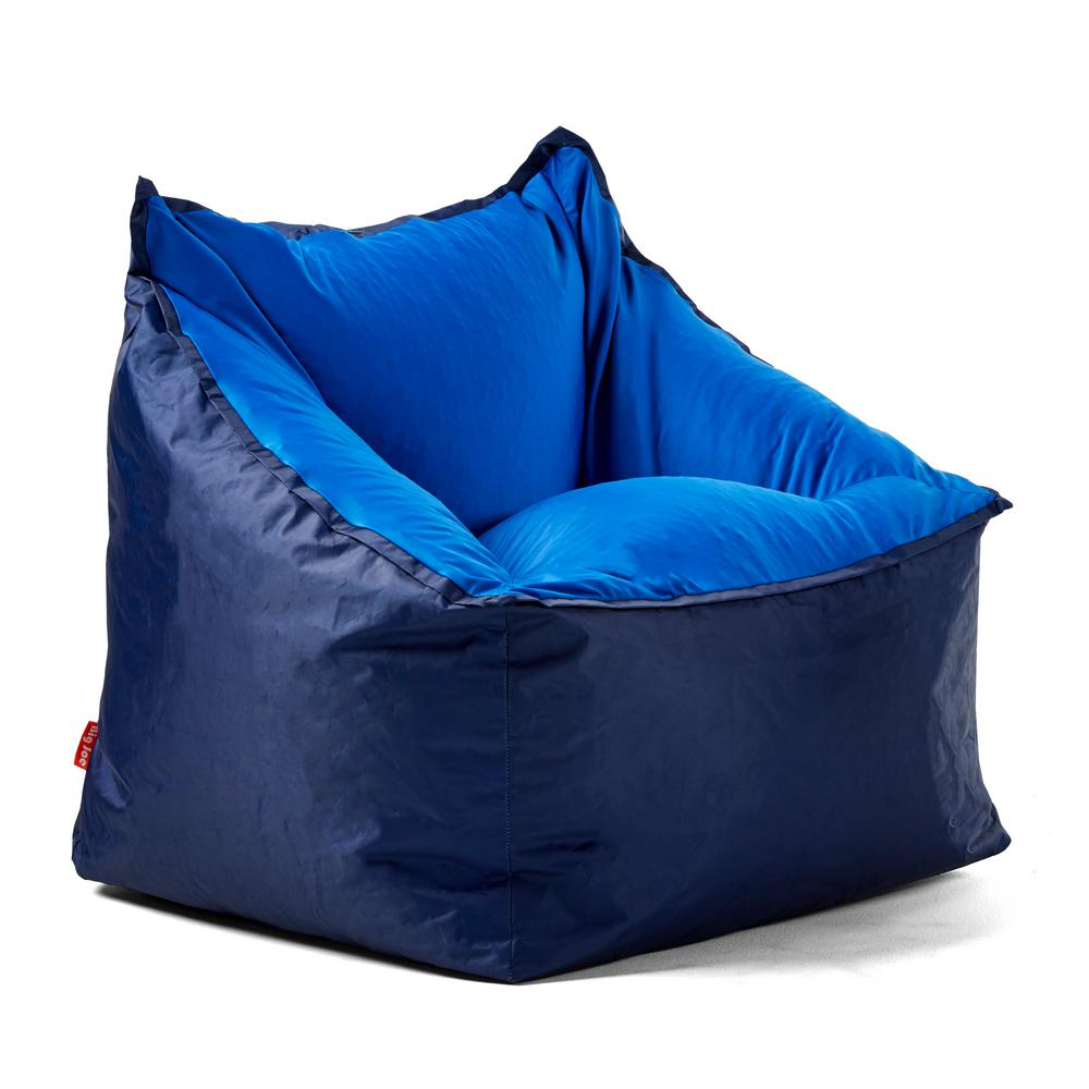 Outstanding Slalom Chair Navy Blue Smartmax And Spandex Bean Bag Ncnpc Chair Design For Home Ncnpcorg