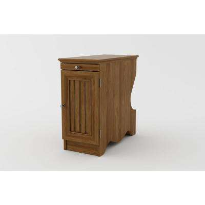 Rainwood Bank Alder Black Side Table with Magazine Storage