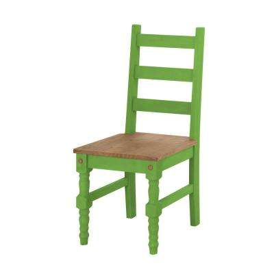Jay 2-Piece Green Wash Solid Wood Dining Chair