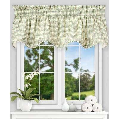 Davins 17 in. L Cotton Lined Scallop Valance in Spa