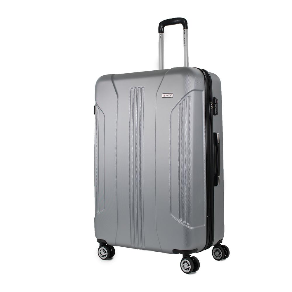 Sierra Silver 30 in. Expandable Hardside Spinner Luggage with TSA Lock