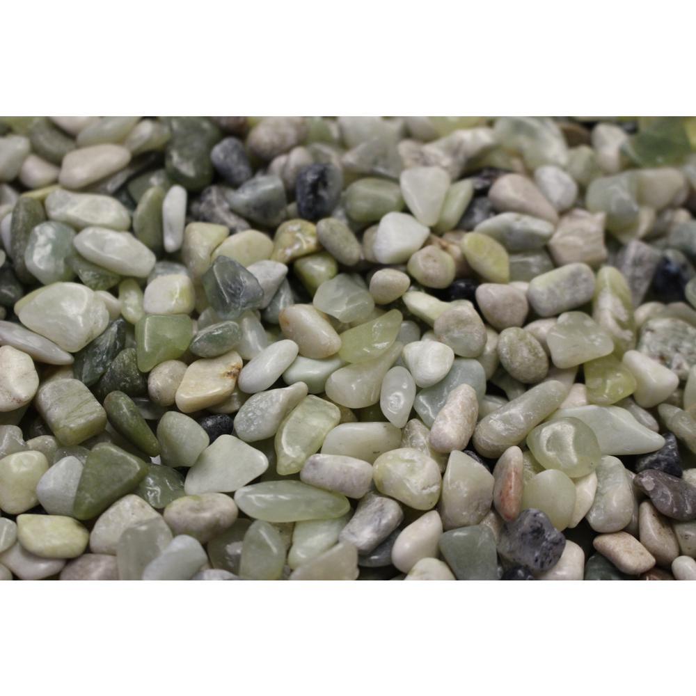 3/8 in. Polished Jade Gravel (20 lbs. Bag)