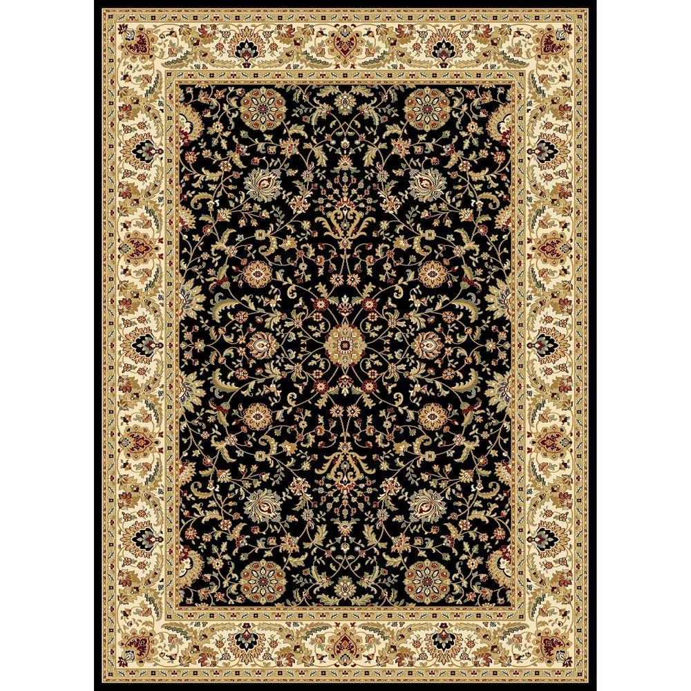 Williams Collection Istanbul Black 7 ft. 10 in. x 10 ft.