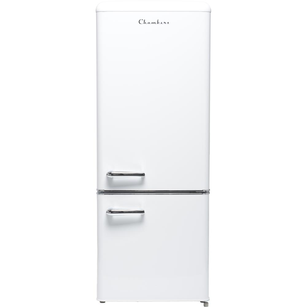 Chambers Chambers 22 in. 7 cu. ft. Bottom Freezer Refrigerator in Frost White, Counter Depth