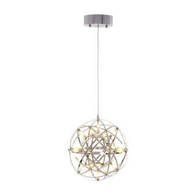 40-Watt Chrome Finish Integrated LED Mini Pendant