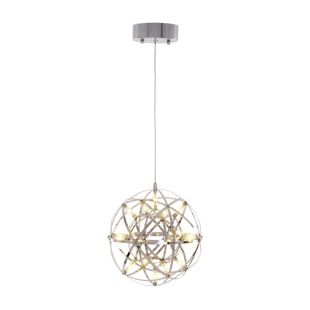 40 Watt Chrome Finish Integrated Led Mini Pendant
